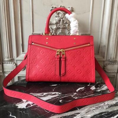 Louis Vuitton M54193 Sully PM Monogram Empreinte Leather  Cerise