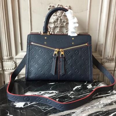 Louis Vuitton M54195 Sully PM Monogram Empreinte Leather Marine Rouge