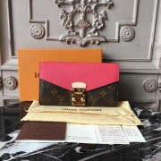 Louis Vuitton M58417 Pallas Wallet Monogram Canvas Rose Litchi