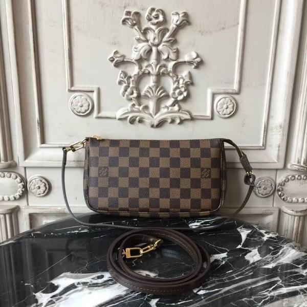 546c72f689 Louis Vuitton N41206 Pochette Accessoires Damier Ebene Canvas