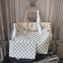 Louis Vuitton N41361 Neverfull MM Damier Azur Canvas Beige