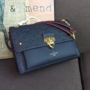 Louis Vuitton M43925 Vavin MM Monogram Empreinte Leather Marine Rouge