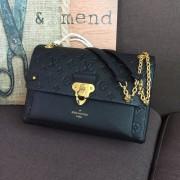 Louis Vuitton M44150 Vavin MM Monogram Empreinte Leather Black