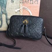 Louis Vuitton M44593 Saintonge Monogram Empreinte Leather Handbag Noir