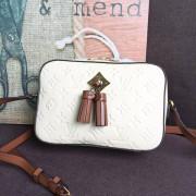 Louis Vuitton M44597 Saintonge Monogram Empreinte Leather Handbag Crème Caramel