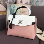 Louis Vuitton M52787 LOCKME EVER MM Lockme Handbag ROSE BALLET BLANC MAITO NOIR