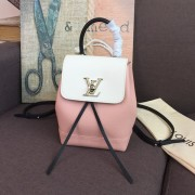 Louis Vuitton M53195 LOCKME BACKPACK MINI Lockme ROSE BALLET BLANC MAITO NOIR