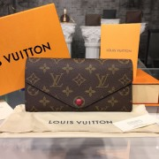Louis Vuitton M60708 Joséphine Wallet Monogram Canvas Fuchsia