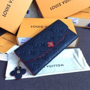 Louis Vuitton M63918 Emilie Wallet Monogram Empreinte Leather Marine Rouge