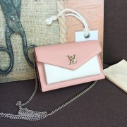 Louis Vuitton M63980 Pochette MyLockMe Chain Lockme ROSE BALLET BLANC MAITO NOIR