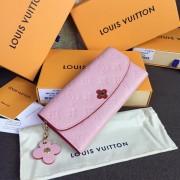Louis Vuitton M64162 Emilie Wallet Monogram Empreinte Leather Rose Poudre