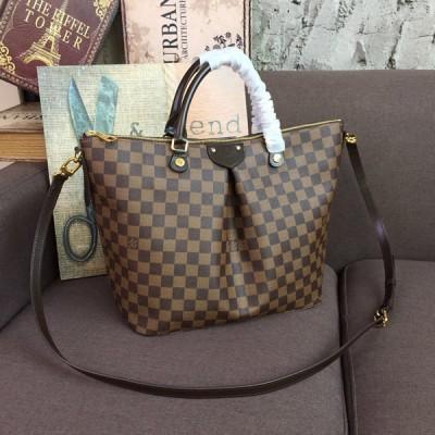 Louis Vuitton N41547 Siena GM Damier Ebene Canvas Handbag