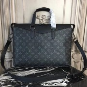 Louis Vuitton M40566 Briefcase Explorer Monogram Eclipse Canvas
