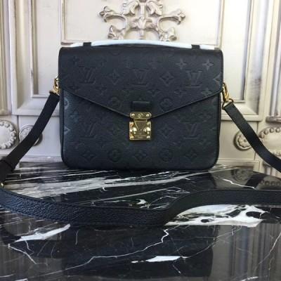 Louis Vuitton M41487 Pochette Metis Monogram Empreinte Leather Noir