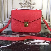 Louis Vuitton M41488 Pochette Metis Monogram Empreinte Leather Cerise