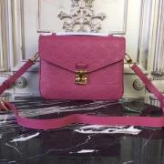 Louis Vuitton M43737 Pochette Metis Monogram Empreinte Leather Rose Bruyere
