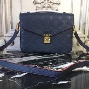 Louis Vuitton M44071 Pochette Metis Monogram Empreinte Leather Marine Rouge