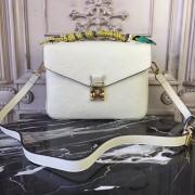 Louis Vuitton M44072 Pochette Metis Monogram Empreinte Leather Crème