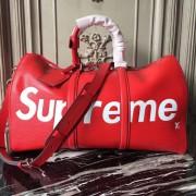 Louis Vuitton x Supreme Keepall Bandouliere Epi 45 Red M53419