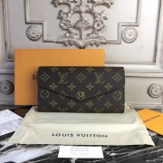 Louis Vuitton M60531 Sarah Wallet Monogram Canvas Brown