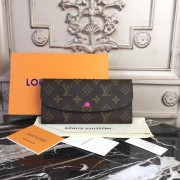 Louis Vuitton M60697 Emilie Wallet Monogram Fuschia