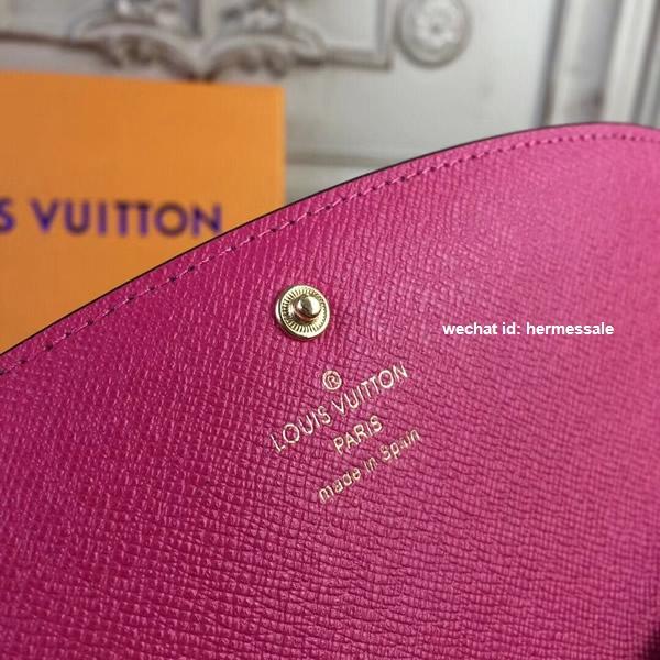 1250b9b5bc6 Louis Vuitton M60697 Emilie Wallet Monogram Fuschia