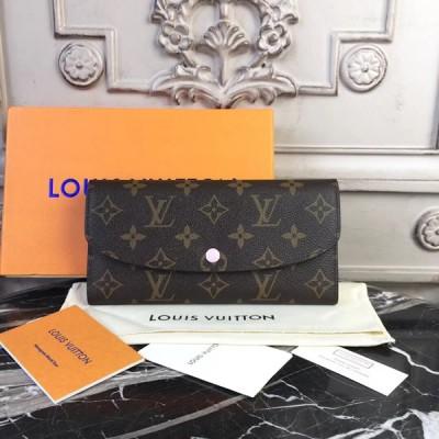 Louis Vuitton M61289 Emilie Monogram Canvas Wallet Rose Ballerine
