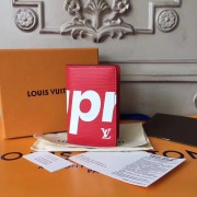 Louis Vuitton x Supreme Pocket Organizer Epi Red M61696