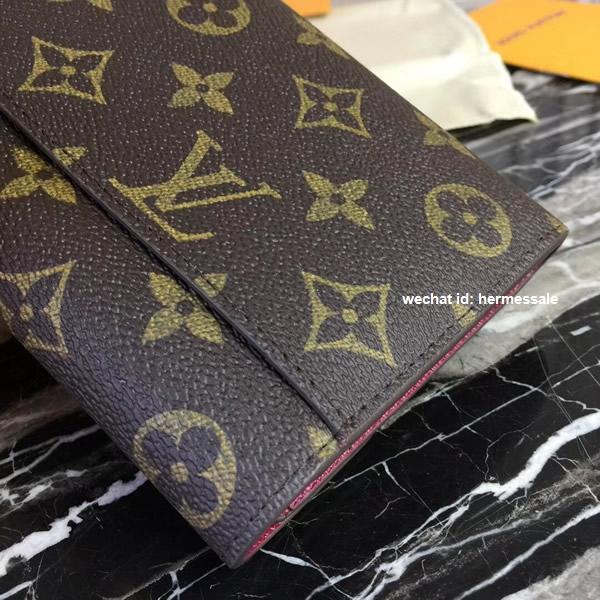 best service 8943b 8848a Louis Vuitton M62234 Sarah Wallet Monogram Canvas Fuchsia