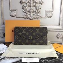 Louis Vuitton M62236 Sarah Wallet Monogram Canvas Coquelicot