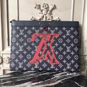 Louis Vuitton M62905 Pochette Apollo Monogram Upside Down Canvas