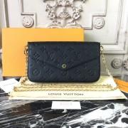 Louis Vuitton M64064 Luxury Monogram Leather Pochette Felicie Bag Noir