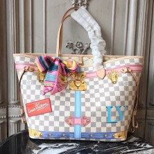 Louis Vuitton N41065 Neverfull MM Damier Azur Canvas