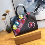 Louis Vuitton M43505 Monogram Canvas and Epi with Kabuki Stickers Speedy 30 Bag