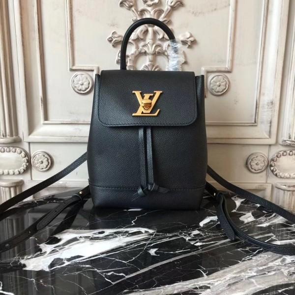 fe31ea6487a2 Louis Vuitton M54573 Lockme Backpack Mini Lockme Noir