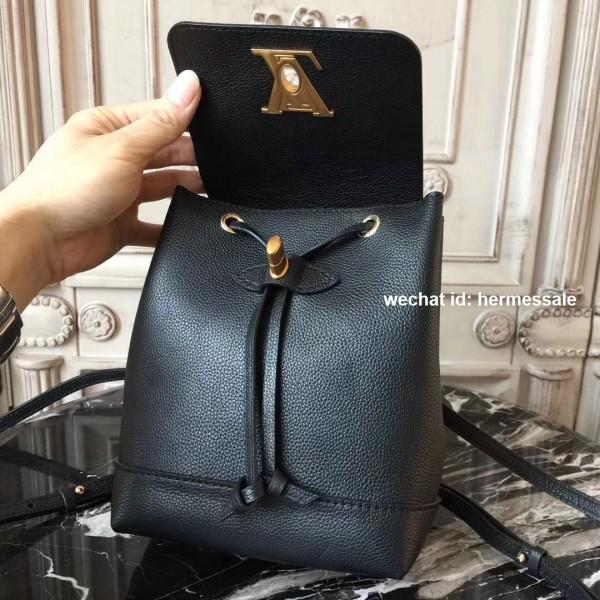 6c016293de90 Louis Vuitton M54573 Lockme Backpack Mini Lockme Noir