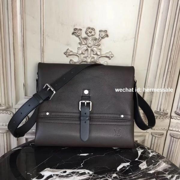 7a46ae341300 Louis Vuitton M54962 Canyon Messenger PM Utah Leather Marron