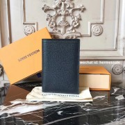 Louis Vuitton M64137 PASSPORT COVER Utah Leather Navy