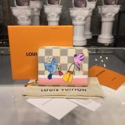 Louis Vuitton N60138 Zippy Coin Purse Damier Azur Canvas