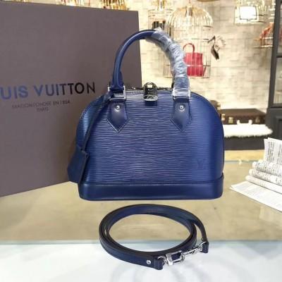 Louis Vuitton M40855 Alma BB Epi Leather Indigo