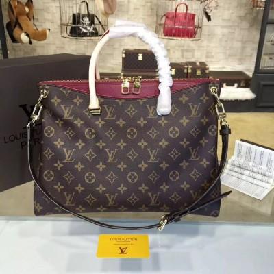 Louis Vuitton M40906 Pallas Monogram Canvas and Leather Handbag