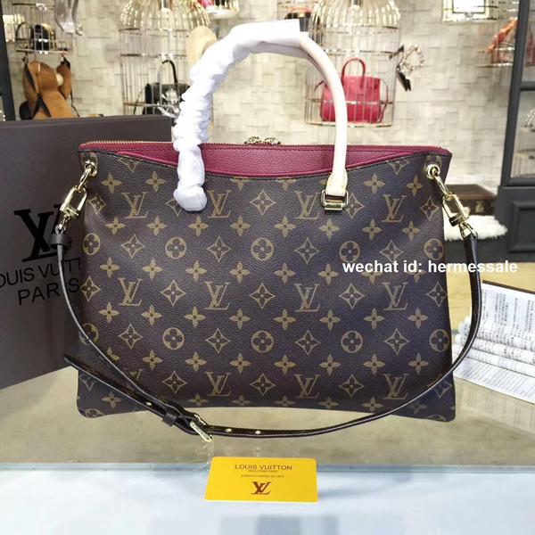 1bedab7bf9b Louis Vuitton M40906 Pallas Monogram Canvas and Leather Handbag