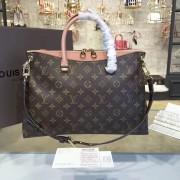 Louis Vuitton M41598 Pallas Monogram Canvas and Leather Handbag Bois de Rose