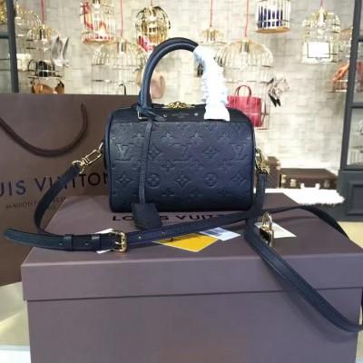 Louis Vuitton M42397 Speedy Bandoulière 20 Monogram Empreinte Leather Noir