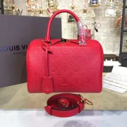 Louis Vuitton M42399 Speedy Bandoulière 25 Monogram Empreinte Leather Cherry