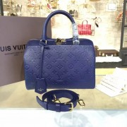 Louis Vuitton M42401 Speedy Bandoulière 25 Monogram Empreinte Leather Navy