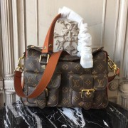 Louis Vuitton M43481 Manhattan Monogram Handbag Caramel