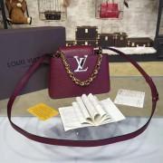 Louis Vuitton M42935 Capucines Mini Chain Taurillon Leather Amarante