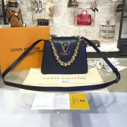Louis Vuitton M42935 Capucines Mini Chain Taurillon Leather Navy