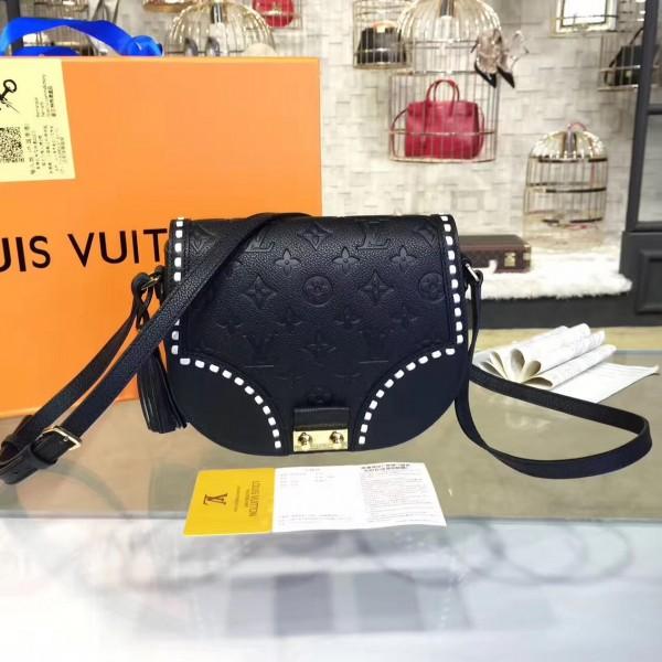 e3b7a61451288 Louis Vuitton M43143 Junot Monogram Empreinte Leather Noir